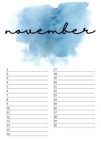 november verjaardagskalender