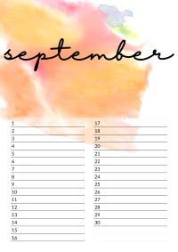 september verjaardagskalender
