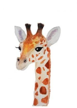 giraffe illustratie poster aquarel shop fritsy kopen