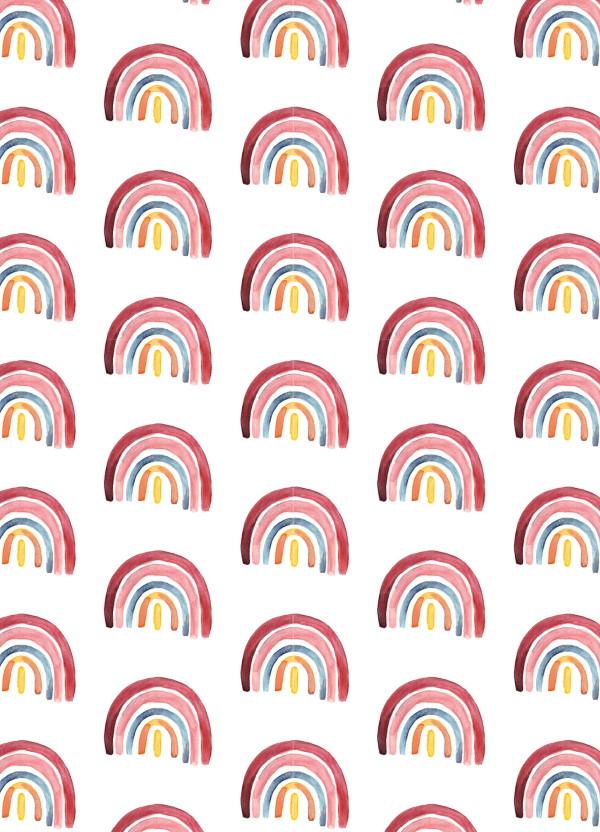 kaart regenboog print geschilderd