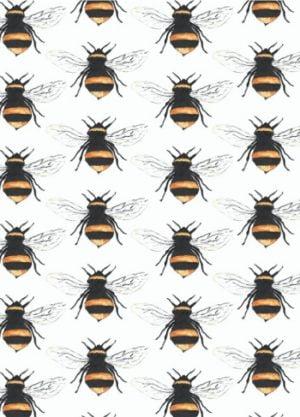 bijen print kaart