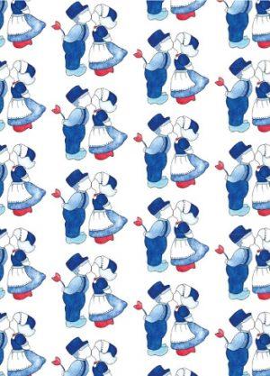Kaart Delfts Blauw waterverf