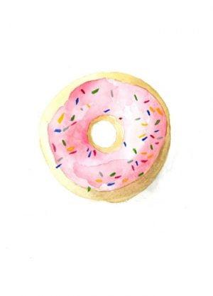 donut illustratie kaart