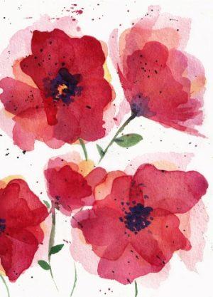 klaprozen schilderij rozen rood