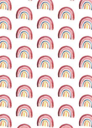 regenboog print kaart