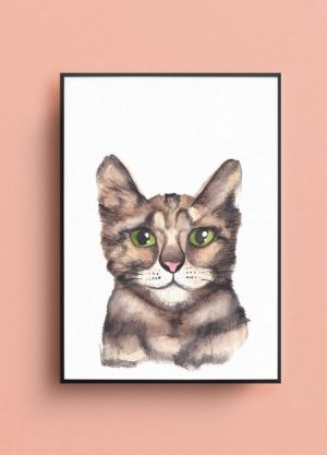 poster kat fritsy illustratie