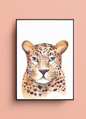 tijger poster tijgerprint illustratie aquarel