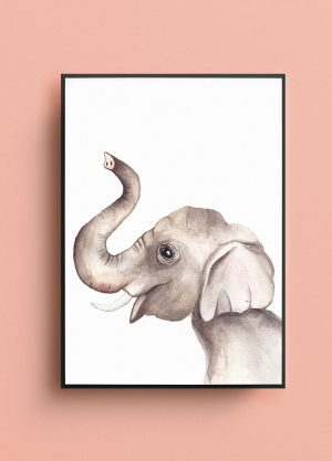 olifant poster fritsy waterverf