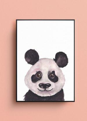 poster panda waterverf illustratie kinderkamer kraamcadeau
