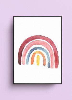 poster regenboog illustratie