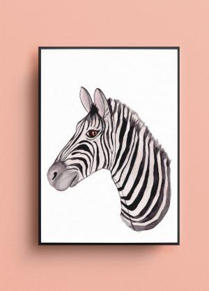 zebra poster kinderkamer fritsy winkel