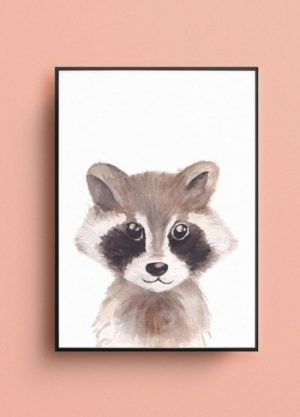 poster wasbeer illustratie kinderkamer