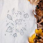DIY Canvas tas met herfst print