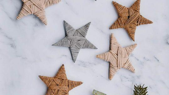 kerststerren touw yarn wrapped stars christmas diy tutorial zelf maken knutselen