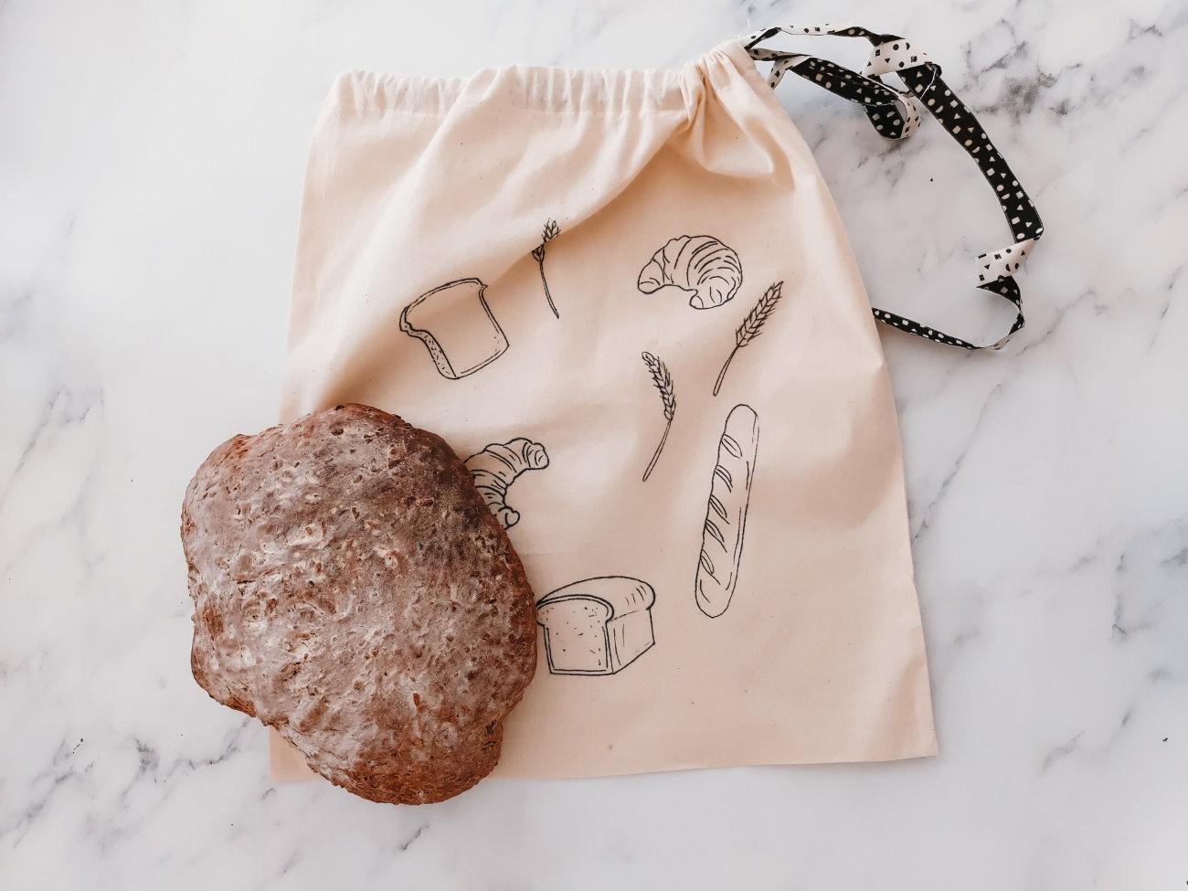 broodzak zelf maken diy canvast tas katoen