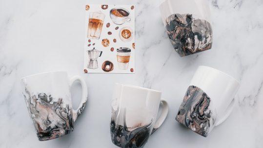 koffie thee mokken zelf maken marmer diy cadeau
