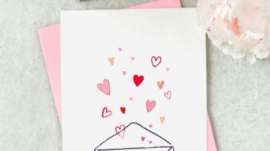 valentijnskaart maken diy tutorial