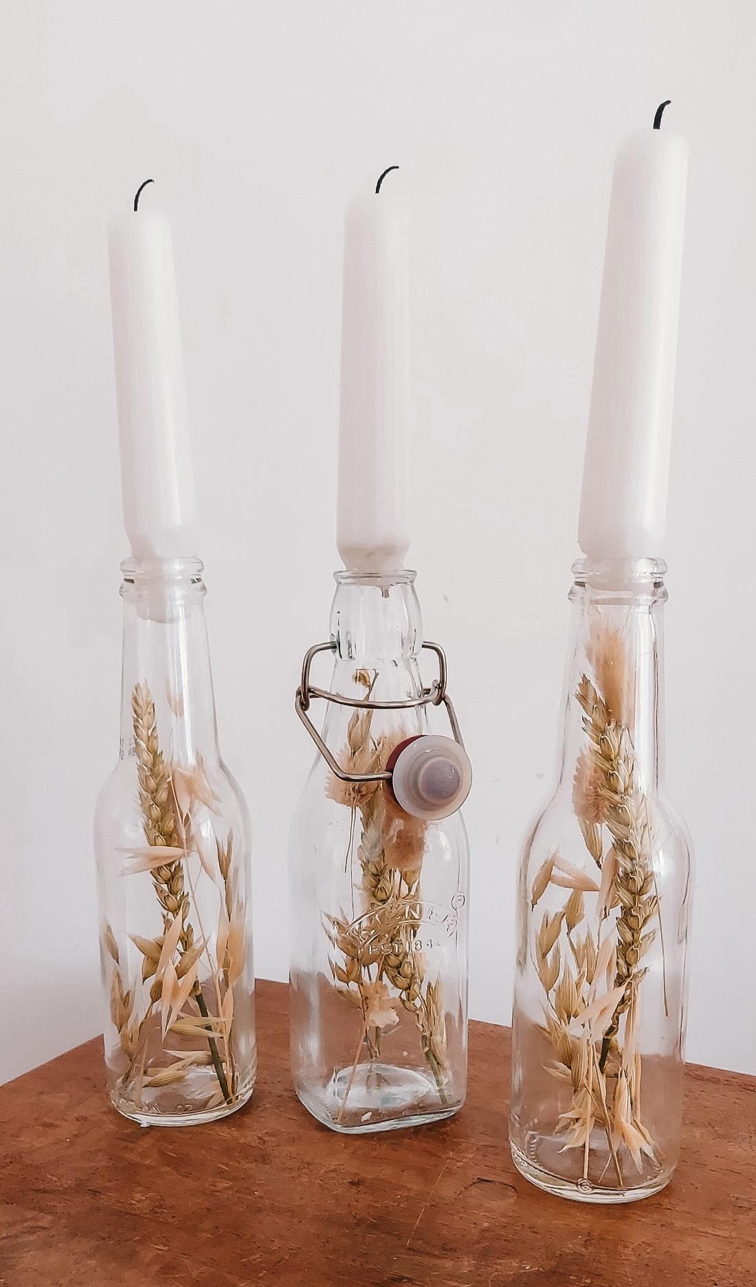 kaarsen kandelaar droogbloemen zelf maken diy