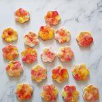 Waterverf koekjes bloemen
