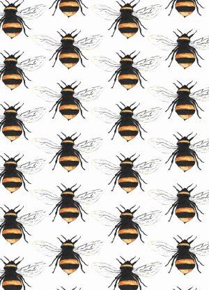 kaart bijen print geschilderd fritsy